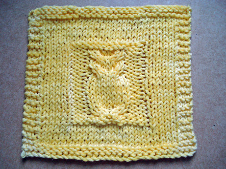 Knit Pattern For Owl Dishcloth : photo