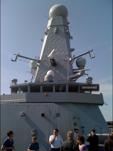 iPhoto thinks part of this Battleship is a face.