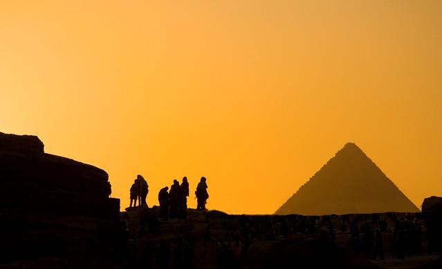 Giza Pyramid Silhouette
