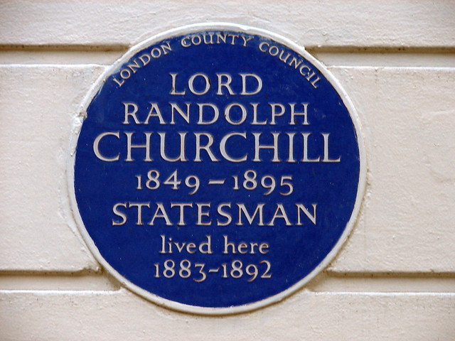 Photo of Randolph Churchill blue plaque