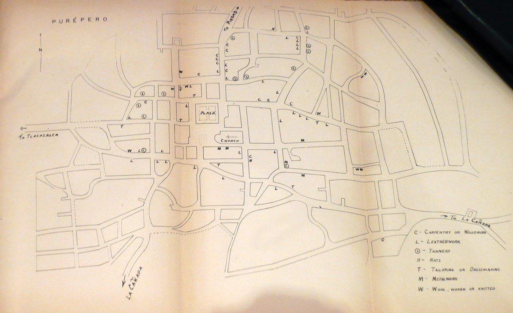 map of purepero, michoacan, mexico from c. 1950 | This is ta… | Flickr