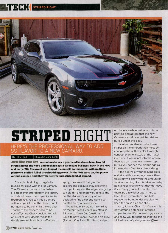Super Chevy Stripe Article
