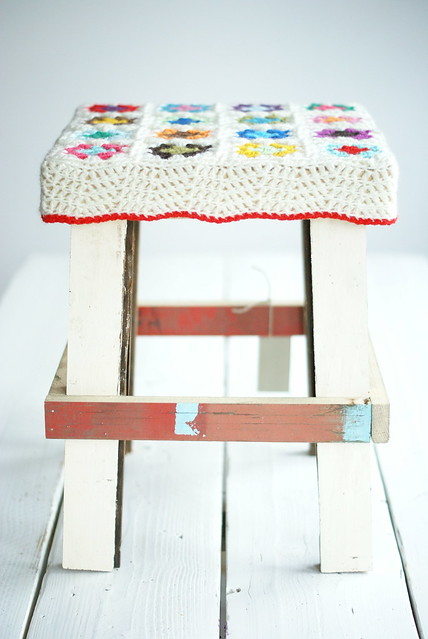 wood & wool stool claudia
