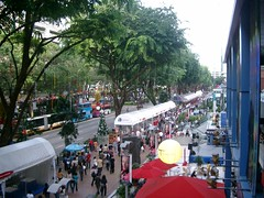 Orchard Road on Christmas Eve