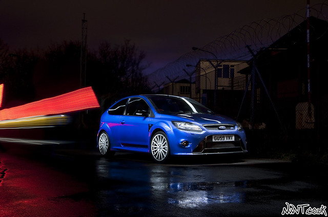 Ford Focus RS Mk2 Performance Blue Long Exposure Collaboration Shot