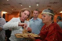 Israeli Politician Tzipi Livni here celebrates at a Mimouna Party