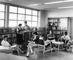 inside Library Branch 13 (Patterson Park), 1954