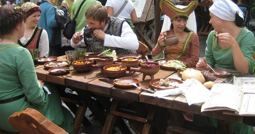 Medieval meal in Old Tallinn in 2009