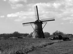 The Mills of Kinderdijk, Molenwaard, Netherlands.