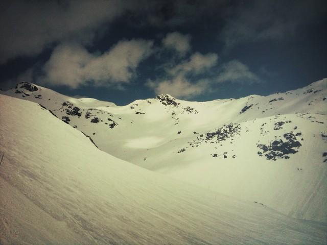 Sur le glacier de l'Alpe d'Huez
