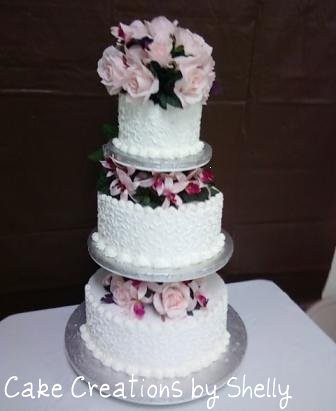 I came across this old photo from a Wilton Wedding Cake class that I took