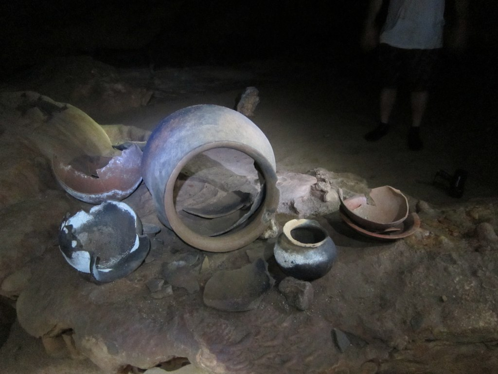 Pottery in ATM cave
