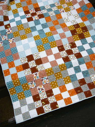 { 9-patch picnic quilt }
