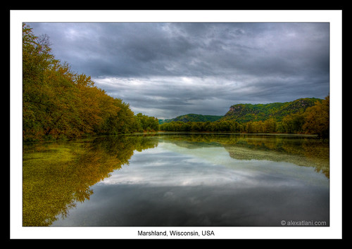 travel autumn trees usa reflection fall water colors wisconsin landscape roadtrip hdr marshland wn newyorktosanfrancisco