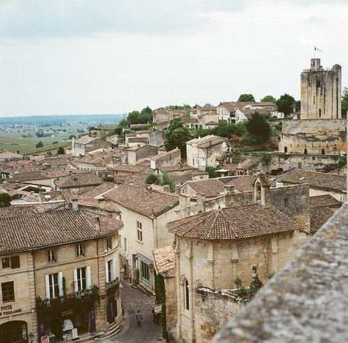 Saint Emilion from a high point.