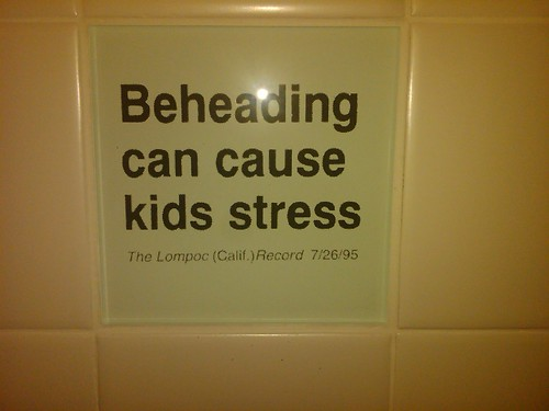 Beheading can cause kids stress