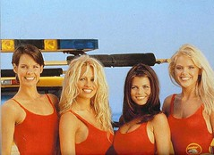 Alexandra Paul, Pamela Anderson, Yasmine Bleeth & Gena Lee Nolin, Baywatch promotion, 1995.