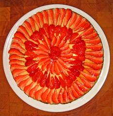 orange, strawberry, red, fruit, food, dish, dessert,