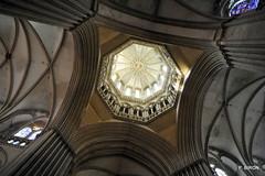 Sous la tour lanterne de la Cathédrale Notre-Dame de Coutances - Manche - Basse Normandie