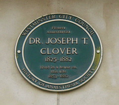 Photo of Joseph Thomas Clover green plaque