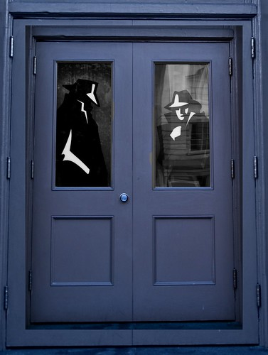Doorway to the International Spy Museum, Washington DC