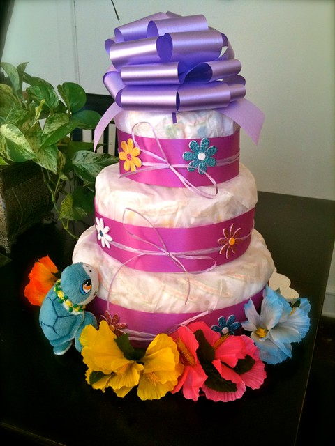 Baby Boy hawaiian luau themed diaper cake - Yelp