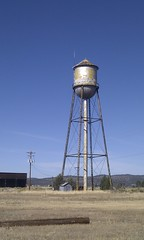 water tower, electricity,