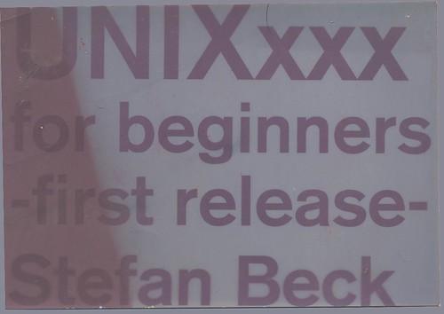 UNIXxxx for beginners