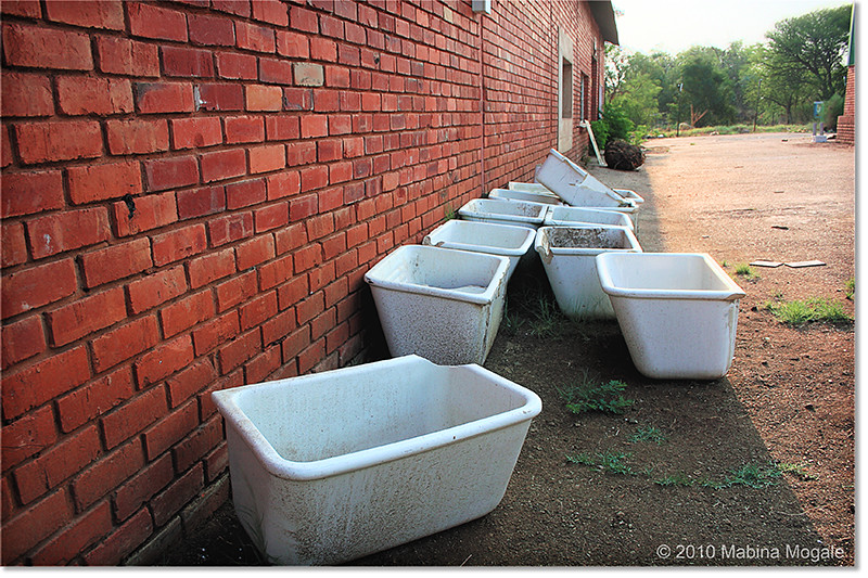 Old washing basins