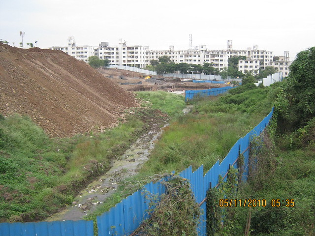Visit to Amit's Colori at Undri Pune 411028 - what will happen to this natural water stream ((Nallah)?