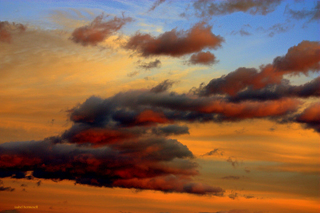 Nubes de otoño. La Vera. Extremadura