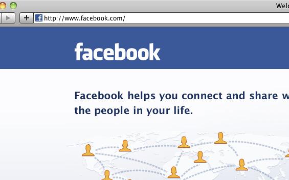 La web de Facebook