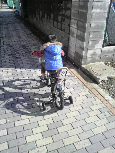 初自転車挑戦中