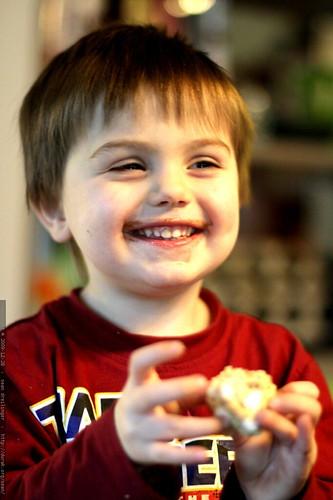 he loves aunt megan's peanut butter confection