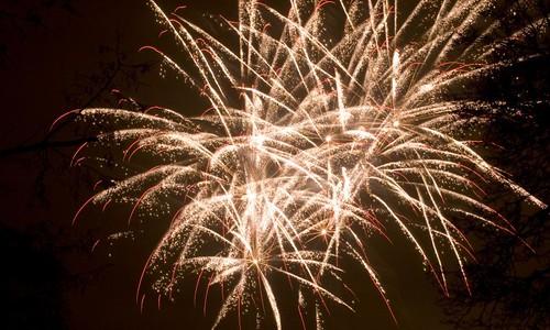 New Year firework in Prague
