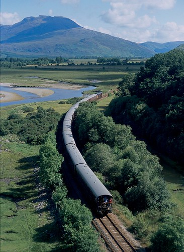 The Royal Scotsman luxury train in the Scottish Highlands