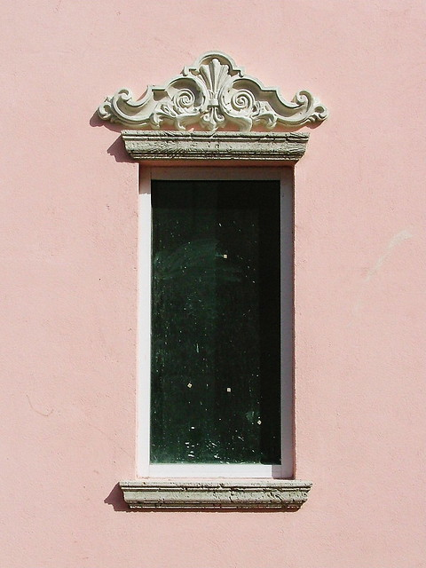 Bahamas- Nassau- Bay Street- Burns House- detail of window