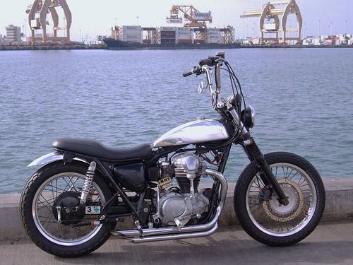 Wicked Wahine with custom tank and dogbone risers 011010-1