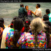 Crowd watching baptism, Lake Atitlan (4)