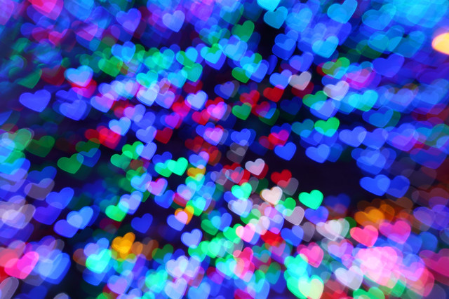 Colorful Hearts Flickr Photo Sharing