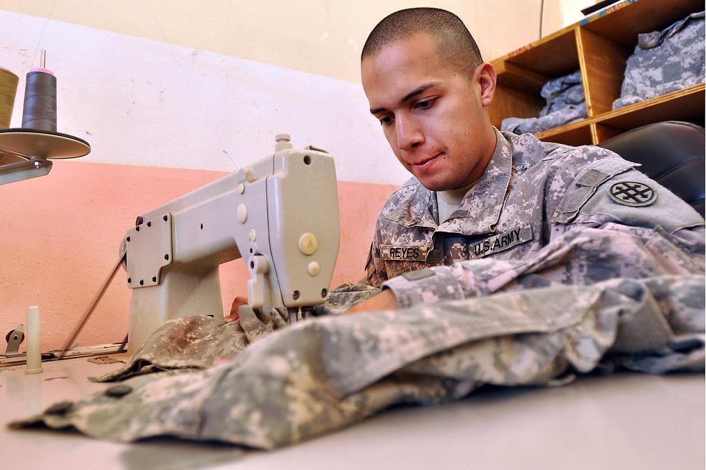 Uniform repair in Iraq