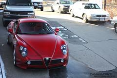 executive car(0.0), antique car(0.0), automobile(1.0), alfa romeo(1.0), vehicle(1.0), automotive design(1.0), alfa romeo 8c(1.0), alfa romeo 8c competizione(1.0), vintage car(1.0), land vehicle(1.0), supercar(1.0), sports car(1.0),