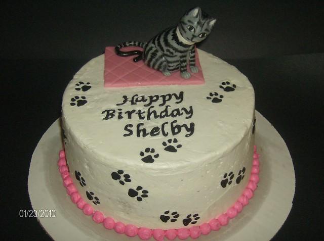 Cat Birthday Cake  Flickr - Photo Sharing!