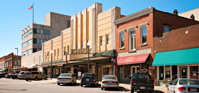 theater block, Kirby Theater (1949), 215 North Main Street, Roxboro, North Carolina (1855) pop. 8,667