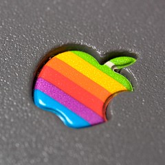 Embossed Apple logo