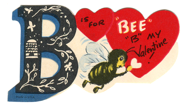 "vintage valentine ""Bee"""