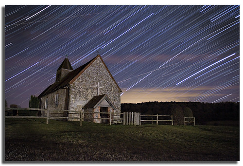 Church By Night Star Trails
