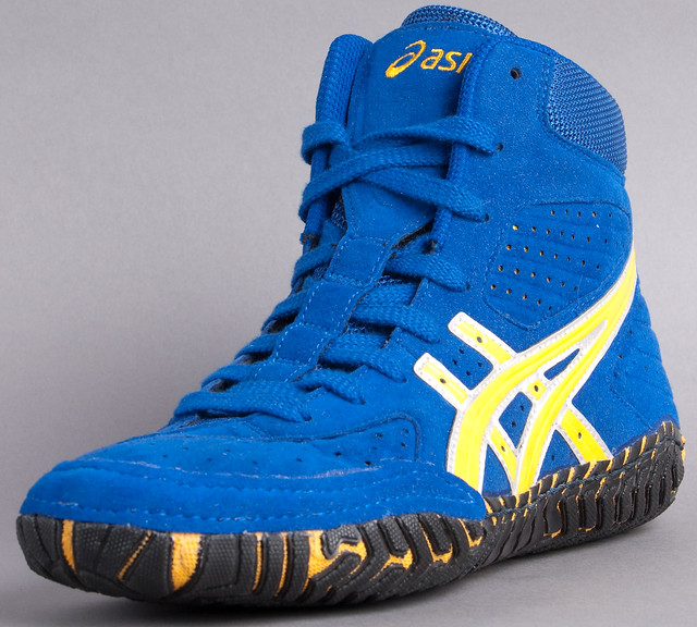 Blue And Gold Nike Wrestling Shoes