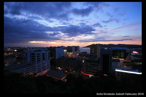 Kota Kinabalu from Signal Hill