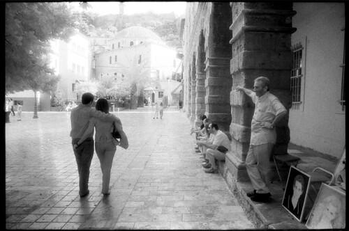 street city bw canon square photography europe kodak sigma greece infrared 24mm canonae1p nafplio kodakhie hie sigma24mmf28 κυριάκοσκοράκησ kiriakoskorakis kyriakoskorakis korax67